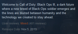 Black Ops 3 Steam Reviews