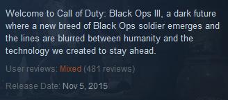 Black Ops 3 Steam Reviews